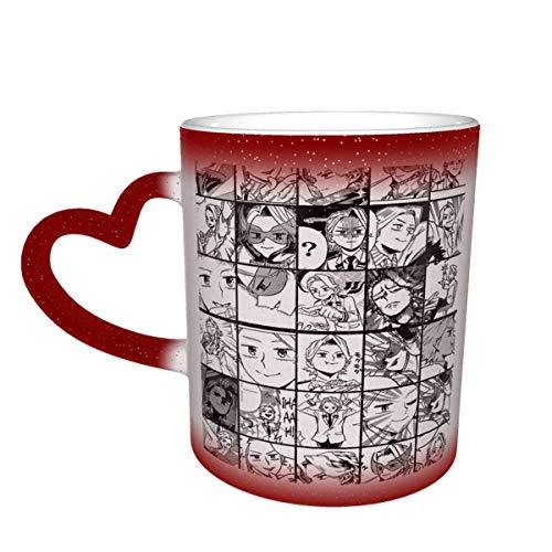 Taza de cerámica Bnha Aoyama Yugo Taza de Color Sensible al Calor Que Cambia de Color Taza Que Cambia de Color en el Cielo Tazas de café mágicas con Arte Divertido Taza de cerámica Regalos personaliz