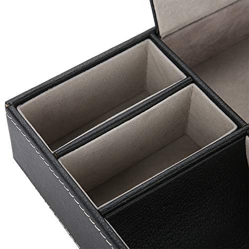 IDWT Caja de Almacenamiento, Caja de Almacenamiento de PU de 10.16 * 7.40 * 2.09 Pulgadas, 5 Compartimentos para Guardar artículos pequeños en la Sala de Estar