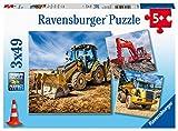 Ravensburger Spieleverlag- Baufahrzeuge im Einsatz Veicoli da Cantiere, Colore, 05032