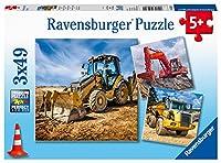 ラベンスバーガー(Ravensburger) ジグソーパズル 05032 1 建設車両(49ピース×3)