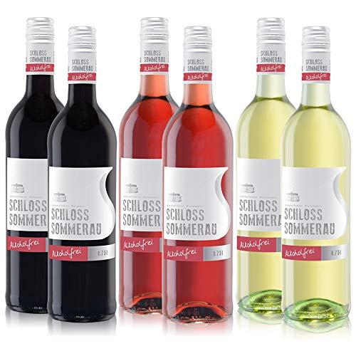 Schloss Sommerau alkoholfreier Rot-, Rosé- und Weisswein - Weinpaket gemischt (6 x 0,75 l)