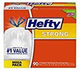 Hefty Strong Trash Bags (Tall Kitchen Drawstring, 13 Gallon, 90 Count) by Hefty