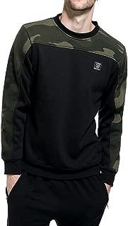 Fastbot Men's Sweatshirt Fleece Pullover Solid Color Camouflage Colorblock Sweater Warm Simple Casual Outwear Coat Jacket