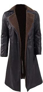 Classic Sci-Fi Movie Costume Men's Notch Lapel Faux Fur Long Coat