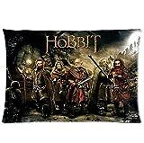 En la película de El Hobbit el Señor de los anillos funda de almohada suave funda para cojín de 20 * 30 pulgada{0} película pesadilla antes de Navidad