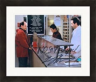 Larry Thomas autographed 8x10 Photo The Soup Nazi (Seinfeld) George Costanza ordering Matted & Framed