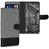 kwmobile Wallet Case Compatible with LG G8X ThinQ - Fabric