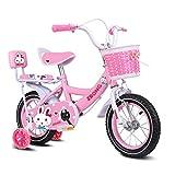 JYTFZD Yuchen- Bicicletas Niños Ejercicio Bicicleta Interior Mini Bicicleta Pink Bicycle Outdoor 2~13 años de Edad Vehículo for niños Vespa de Viaje 3~15 años (Color: Púrpura, Tamaño: 12inches)