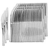 Plastic Silverware | Heavy Duty & Solid Cutlery Disposable Utensils Set | Perfect for Weddings, Buffets, Luncheon, Birthdays, More | Pack of 150 Knives