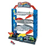 Hot Wheels City Stunt Garage Playset Gift Idea for Ages 3 to 8 Years Elevator to Upper Levels Connects to Other Sets