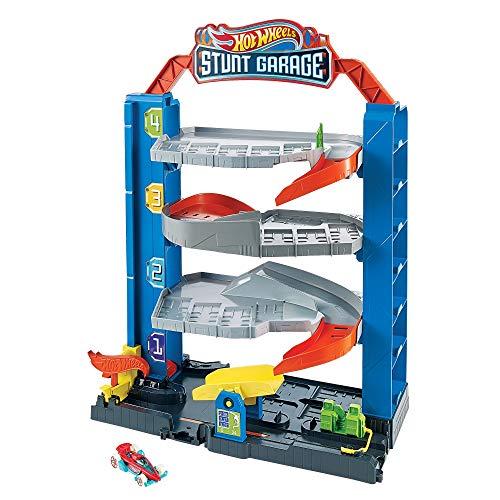 Hot Wheels - Stunt Garage, Play Set (Mattel GNL70) , color/modelo surtido