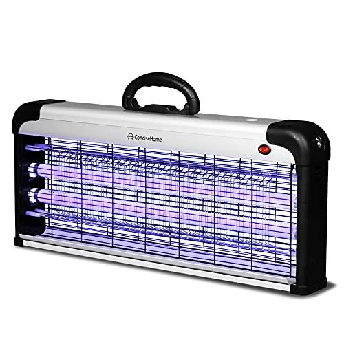 Concise Home La Lampada Anti-zanzara a UV Uccide Le Mosche frantoio Elettrico per Insetti, Argento Anti zanzara Esterno (40W)
