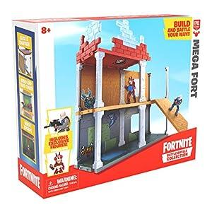 Fortnite 63511 Battle Royale Collection Mega Fort y 2 Figuras exclusivas de Tricera Ops y Blue Squire