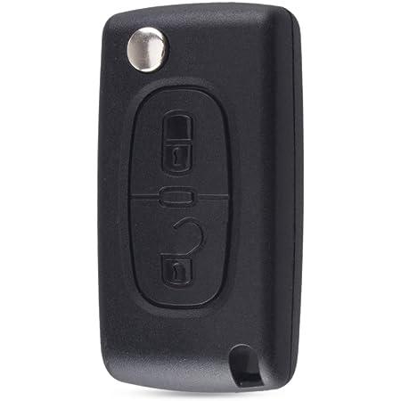ENERGY01 VA2 CE0536 - Coque Clé Compatible Peugeot 107 207 307 308 407 2 Boutons CE0536 Lame sans RAINURE Pile dans LA Coque - Satisfait ou remboursé
