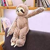 FENSIN Poupée Paresseuse De Jouet De Peluche De Bande Dessinée De Paresse Paresseux Bourrés par Jouets Interactifs Apaisants Cartoon Plush Toy Cute Sloth Doll Stuffed Toys