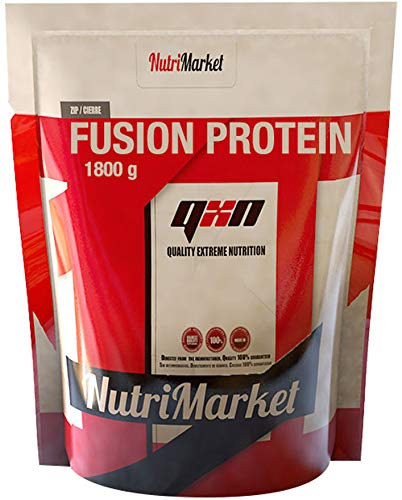 QXN Fusion Protein Biscuit Extra Cream - Boost Muscle Mass Protein with Glutamine and BCAA - Better Recovery and Muscle Protection for Easy Anabolism - 1.8 kg