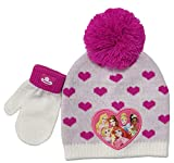 Disney Princess Winter Hat and Glove Set, Girls Ages 1-4 Multicolor