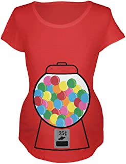 Candy Gumball Machine Costume Pregnancy Maternity Soft T Shirt