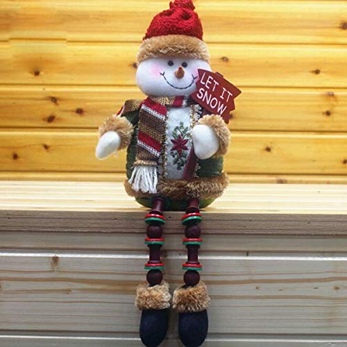Covermason Christmas Decorations Santa Claus Christmas Ornament Plush Gnome Doll Santa Long Beard Standing Plush Handmade Doll Toy for Christmas Decorations Table Ornament Home Holiday Decoration