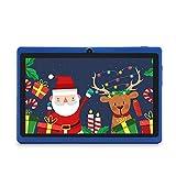 Haehne 7 Zoll Tablet PC, Google Android 9.0 GMS Zertifiziertes, Quad Core 1GB RAM 16GB ROM, Zwei Kameras, 1024 x 600 HD Bildschirm, Bluetooth, WiFi, Blau