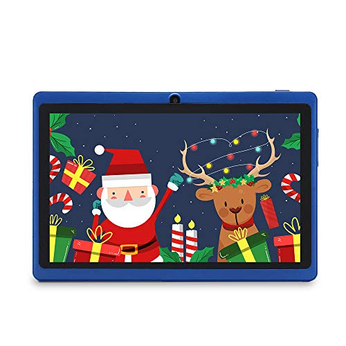 Haehne 7' Tablet PC, Google Android 9.0 GMS, 1024*600 HD Display Screen, 1GB+16GB Quad Core, Dual Cameras 2.0MP+0.3MP, WiFi, Bluetooth, Blue