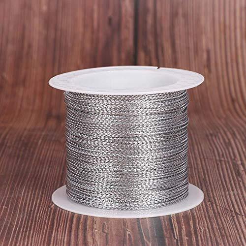 Xinger Touw Koord Draad Koord Koord Riem Lint Touw Taglijn Armband Maken Antislip Kleding Cadeau, zilver