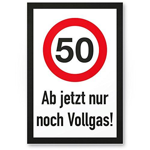 Bedankt! 50 jaar vol gas - plastic bord, geschenk 50e verjaardag, cadeau-idee verjaardagscadeau vijfstigste, verjaardagsdeco/party accessoires/verjaardagskaart