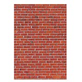 Allenjoy Red Brick Wall Backdrop Back to School Rustic Vintage Kids Children 1st Birthday Party Table Wall Decoration Banner Baby Shower Vinyl 5x7ft Photography Background Photo Booth Props