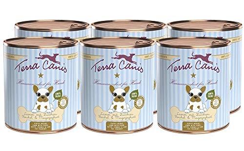 Terra Canis Welpen Nassfutter I Reichhaltiges Premium Hundefutter in echter Lebensmittelqualität mit Lamm, Zucchini, Magerjoghurt & Fenchel I 6 x 800g, allergenarm, getreidefrei & glutenfrei