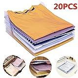 Nšilko Organizador de Armario,Camiseta Carpeta Sistema Antiarruga,tamaño Normal (20PCS)