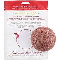 The Konjac Sponge Co Facial Puff Red Clay – Esponja Konjac Facial Pieles Secas y Maduras, Color Rojo