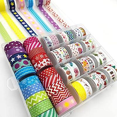 Amazon - 30% Off on 44 Rolls Washi Tape Set, Masking Tape Organizer Aesthetic for DIY Crafts, Gift Wrapping…