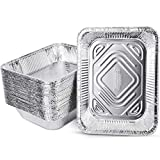 PARTY XIAFEI 9x13' Aluminum Foil Pans, Half Size Deep Foil Pans, Friendly Recyclable Aluminum, Portable Food Storage Containers, 2.6LB Great for Cooking, Heating, Storing, Prepping Food (30 Pack)