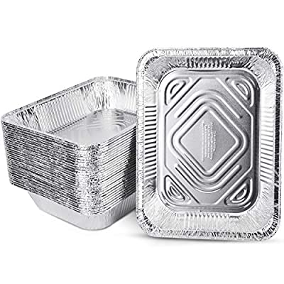 PARTY XIAFEI 9x13 Aluminum Foil Pans Half Size