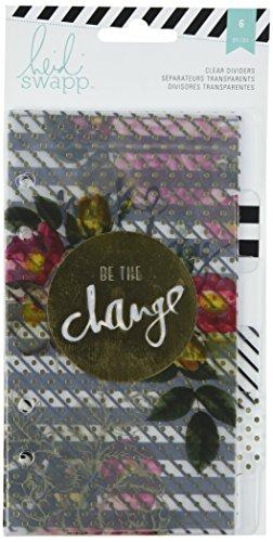 American Crafts di Heidi Swapp-Planner Personale con divisori, Trasparente con Stampa, in Acrilico, Multicolore