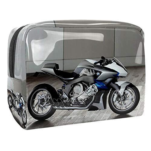Neceseres de Viaje Moto Moderna Portable Make Up Bags Neceser de Práctico Bolsa de Lavado de Baño Viajes Vacaciones Fiesta Elementos Esenciales 18.5x7.5x13cm