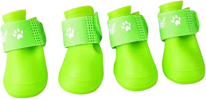 NOMIMAS Dog shoes Waterproof Anti Slip Outdoor Cute Rain Boots Magic Stick Fashion Design Vacation shoes
