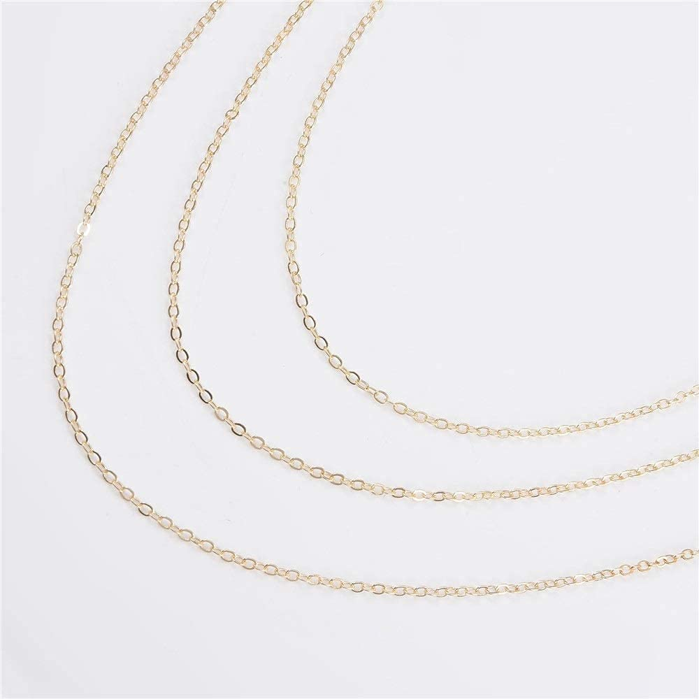 Pretty Glasses Chain Eyeglass Chain Alloy Multilayer Tassel Eye Chain Literary Youth All-Match Non-Slip Glasses Chain ASDDD (Color : Gold, Size : Free Size)