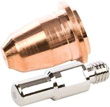 Forney 85392 ، نکات نازل الکترود 2 پلاسما و نکات برش 2 پلاسما لوازم جانبی قابل استفاده برای استفاده از مشعل پلاسما برش با استفاده از Forney SKU # 251، 302، 303 and 317، 4-Pack