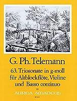 TELEMANN - Trio Sonata en Sol menor (TWV:42/g 9) para Flauta de Pico Alto, Violin y BC(Patitura/Partes
