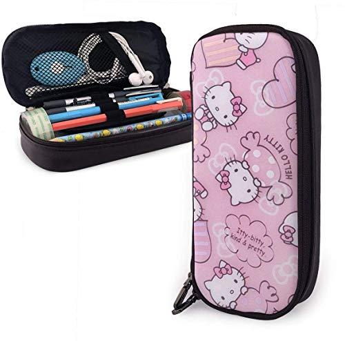 Federmäppchen Hello Kitty mit Süßigkeiten Big Capacity Bleistiftbeutel Make-up Federbeutel Briefpapier mit Doppelreißverschluss Stifthalter für Schule/Büro