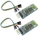 KKHMF 2個 HC-06 ワイヤレスブルートゥースモジュール 無線シリアルモジュール Arduinoと互換 「国内配送」