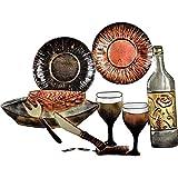 Tableau Décoration murale Vaisselle couvert Vintage En Métal, Cadre original 3D Métallique Moderne Et Design Pour La Deco De Votre Cuisine Gastronomique , restaurant, snack - Métal - L55,5 x H 43 cm