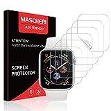 MASCHERI [6 Stück] Kompatibel mit Apple Watch 40mm Serie 6/SE/5/4 & 38mm Serie 3/2/1 Schutzfolie, [TPU-Folie] [kein Glas][TPU-Folie] HD Soft Bildschirmschutz [Kompatibel mit Hülle]