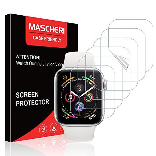MASCHERI 6 Stück Kompatibel mit Apple Watch 40mm Serie 6 SE 5 4 & 38mm Serie 3 2 1 Schutzfolie TPU Folie kein Glas HD Soft Bildschirmschutz Kompatibel mit Hülle