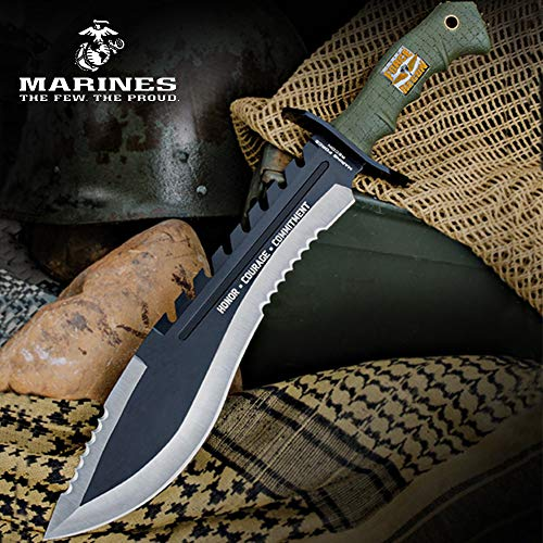 United USMC HCC Bowie With Sheath