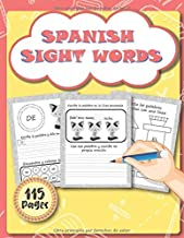 Spanish Sight Words: Handwriting Practice Pages, Vocabulary Learning and Letter Tracing Workbook for Toddlers, Preschool and Kindergarten Kids. (sight words español) (Spanish Edition)