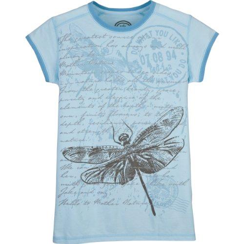 Life Is Good Damen-Airbrush-T-Shirt mit Libellen-Motiv, Beachhouse Blue, Größe S