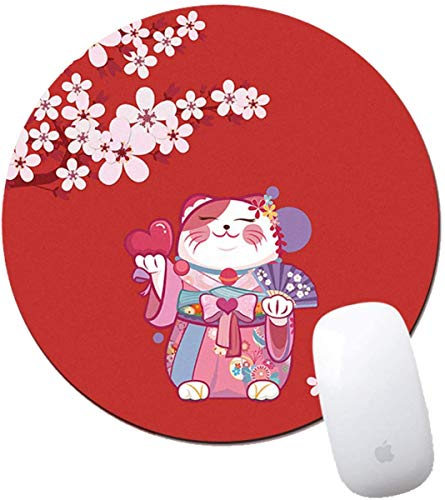 MYLB Tappetino per Mouse Tondo,(Diameter 200 x Thickness 3mm) Round Gaming Mouse Pad, per Gaming, Ufficio, Laptop (#007)