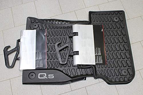Audi - Set di tappetini in gomma originali Audi Q5 tipo 80B, anteriori e posteriori, colore: nero